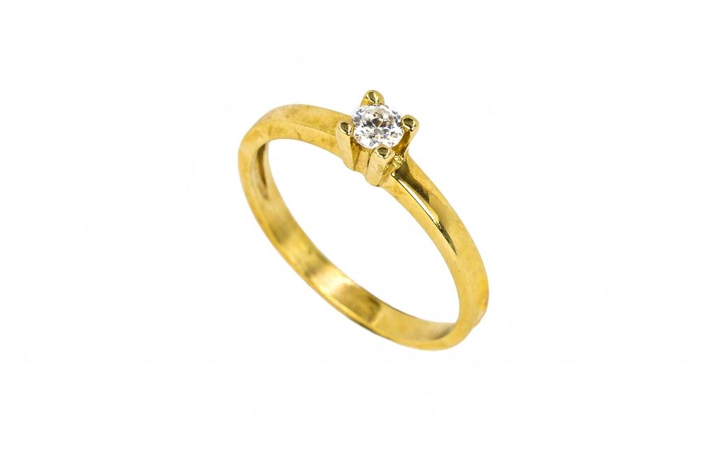 Anel de ouro amarelo